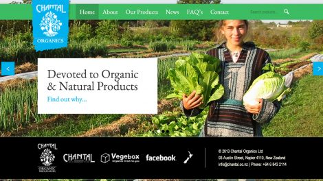Chantal Organics - Design e criação do site