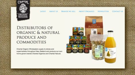Chantal Organic Wholesalers website