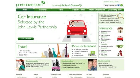John Lewis Insurance website redesign