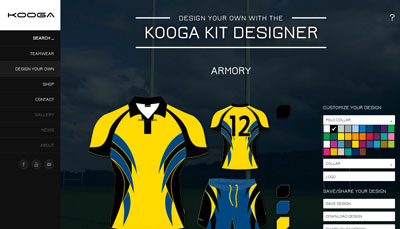 Kooga website and online store