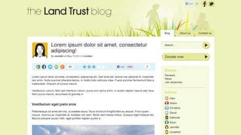 Blogs da fundação The Land Trust