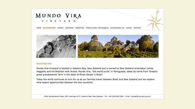 Site da vinícola Mundo Vira