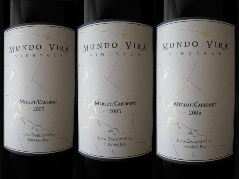 Mundo Vira wine labels