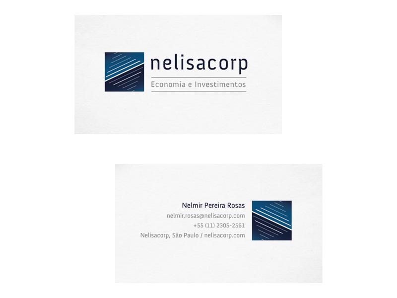 Identidade e cartão de visita da Nelisacorp
