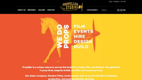 Propeller Studios website and online rentals store