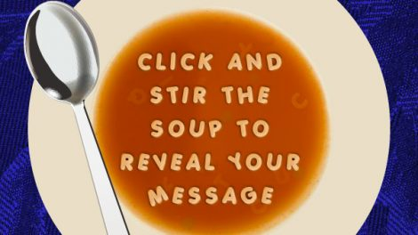 "Flash e-card para Shelter ""Stir for your message"""