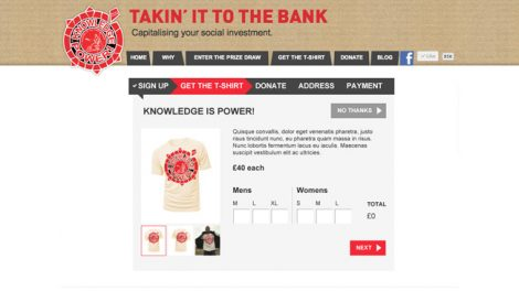 Takin' it to the bank website