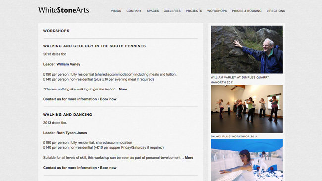 Site da Whitestone Arts